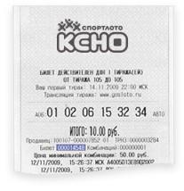 Check keno tickets